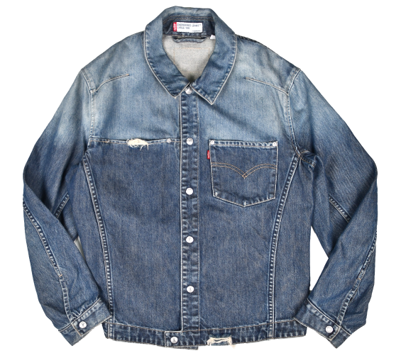 [Levi's] ENGINEERED JEANS TWO-TONE DENIM JACKET [L]