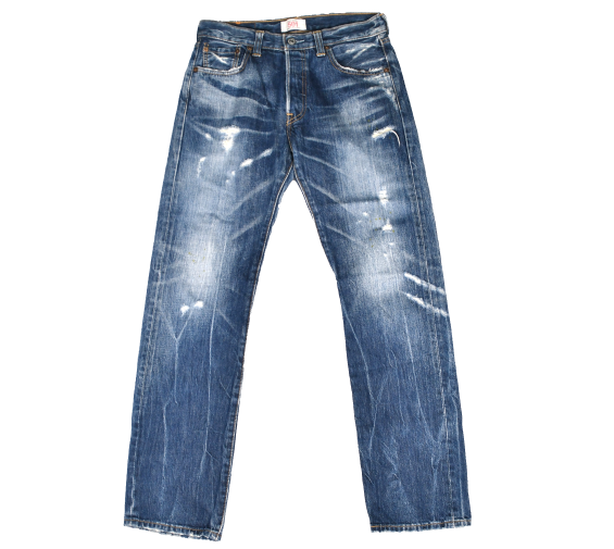 [Levi's] 501 VINTAGE WASHING DENIM STRAIGHT FIT PANT [30]