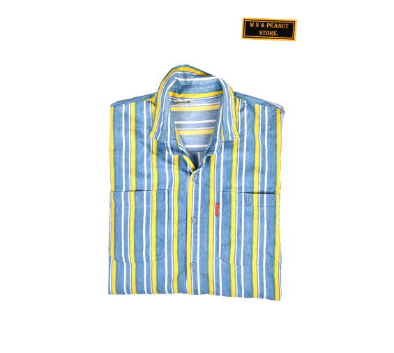 [None] Denim Stripe Shirts [L]