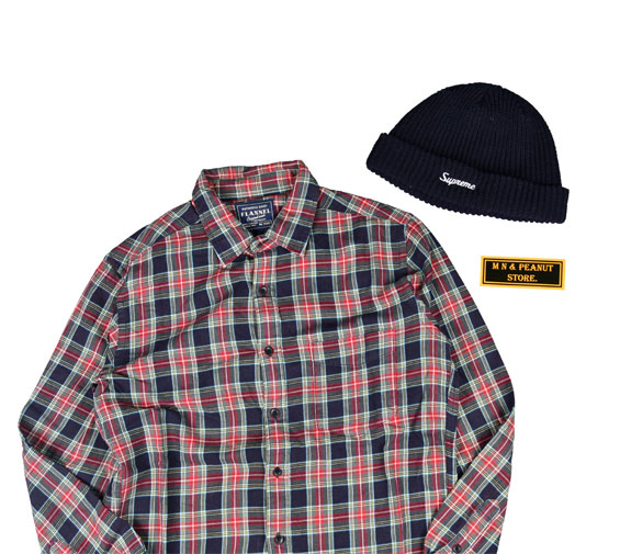[None] Vintage Flannel Shirts [L]