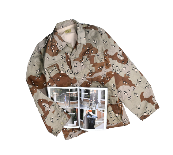 [None] Chocochip Camo Military Jacket [XL]