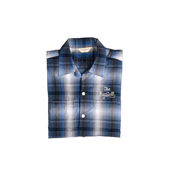 [RADIALL] SAMPLE Open Collar Check Shirts [S]