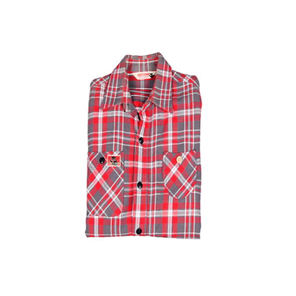 [Cat's PAW] Red Check Shirts [S]