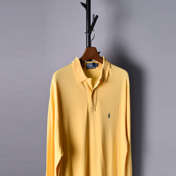 Polo Logo pk collar shirts [XL]