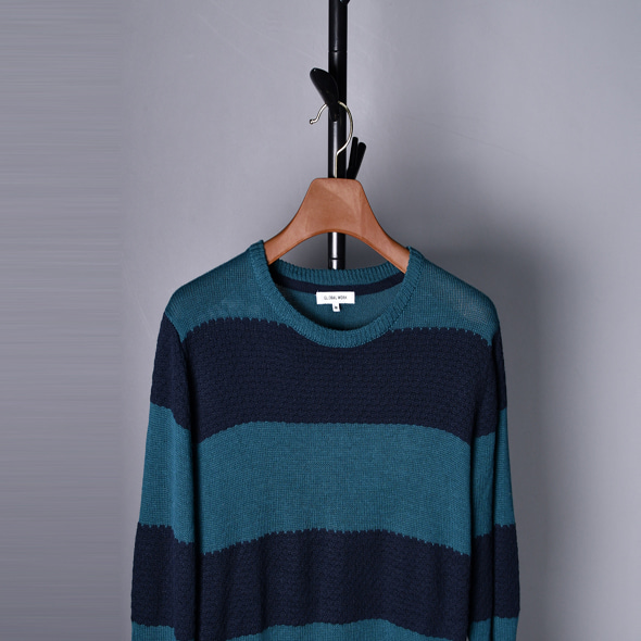 Global work Wool stripe knit [M]