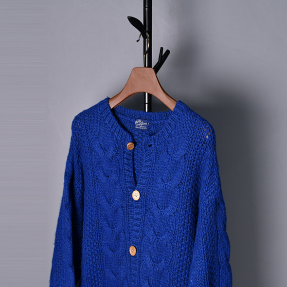 Presented by bright company Wool knit sweater cardigans [F]