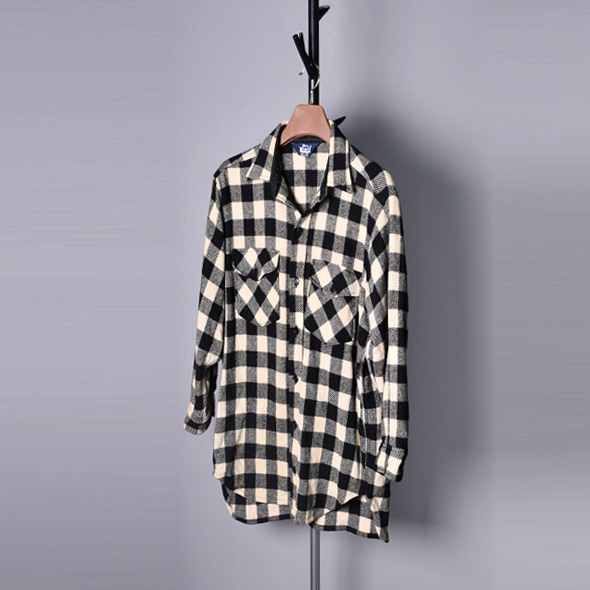 Wool rich Wool tartan check shirts[F]
