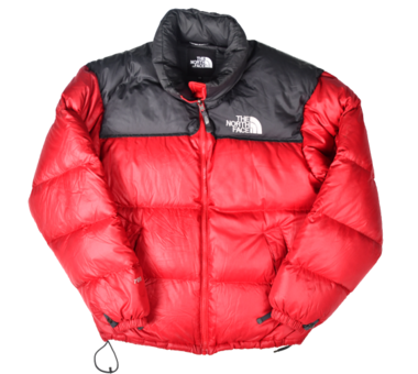 [THE NORTH FACE] 700 NUPTSE DOWN JACKET GREY/RED [S]