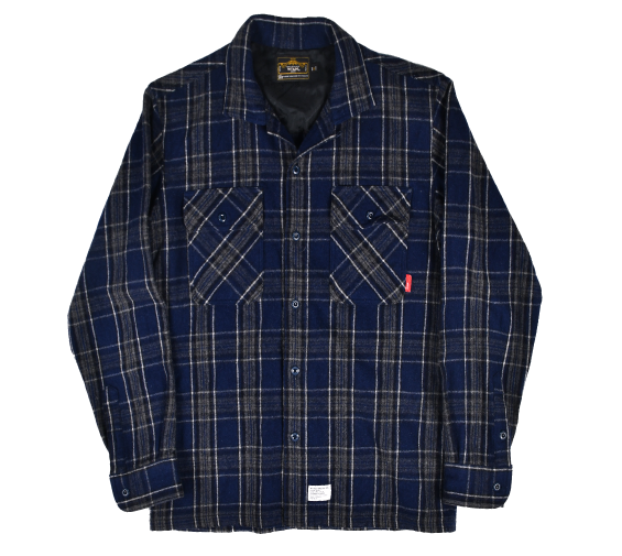 [WTAPS] 07 WOOL TWO TONE VATOS L/S SHIRTS [M]