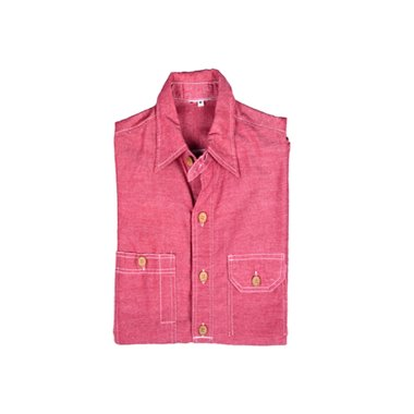 [None] Vintage Pink Chambray Shirts [M]