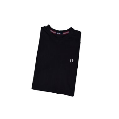 [FRED PERRY] Logo 1/2 T-shirts Black [M]