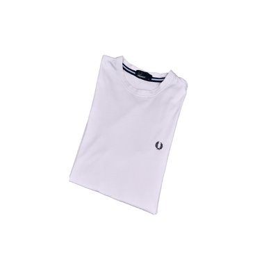 [FRED PERRY] Logo 1/2 T-shirts White [M]