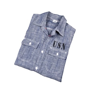 [Alpha Industries INC] Denim Chambray Shirts [M]