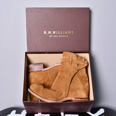 R.M.Williams Stockman Suede Jodhpur Boots [275]