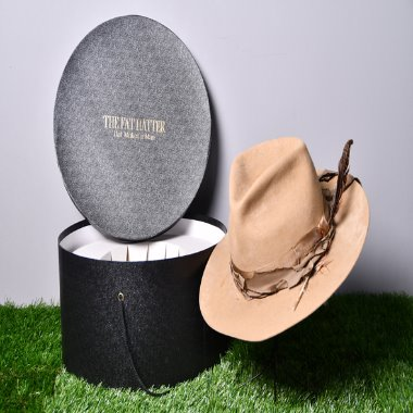 The fat hatter hat makes a man Vintage custom fedora hat [58]