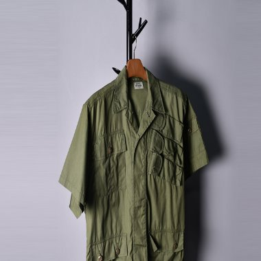 Pineapple army's Vintage 1/2 military pocket shirts [M]