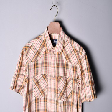 Stussy 90s Old 1/2 check shirts [M]